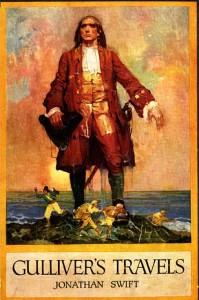 Immagine della copertina in inglese di Gulliver's Travels